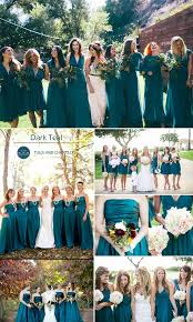teal wedding top 10 colors for fall bridesmaid dresses 2015 teal teal