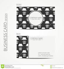 vintage creative simple business card template stock vector