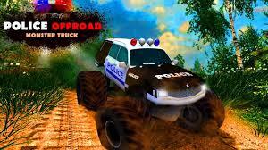 monster truck for children cartoon police offroad monster truck car games cartoon for kids cartoon