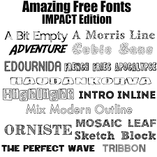 amazing free fonts u2013 impact edition u2013 allcrafts free crafts update