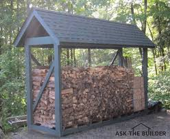 how to build a custom firewood shelter ask the builderask the