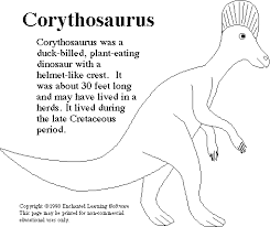 corythosaurus print out enchanted learning software