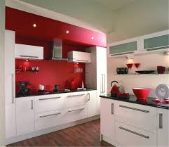 Red Gloss Kitchen Cabinets Color Combination High Gloss Kitchen Cabinet Style