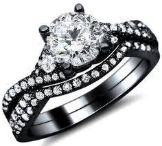 black band engagement rings 1 26ct diamond engagement ring bridal set 18k