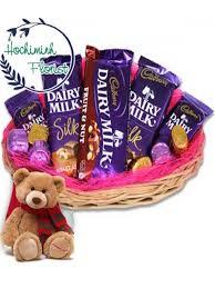 chocolate basket chocolate basket and teddy