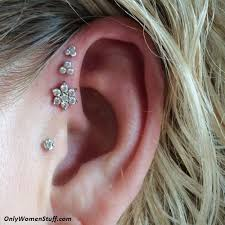 helix cartilage earrings 1000 ear cartilage piercing ideas and types