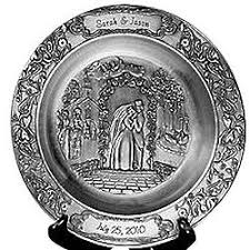 personalized pewter plate personalized wedding pewter plate findgift
