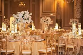 linens for weddings reception décor photos gold tablescapes with floral