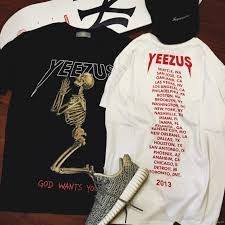 ghost clothing popular yeezus tour sleeve t shirt skull ghost merch indian