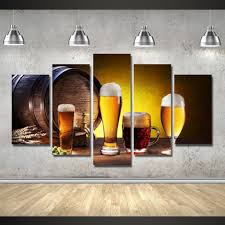 limited edition beer 5pcs painting home decor canvas u2013 pinpointweave