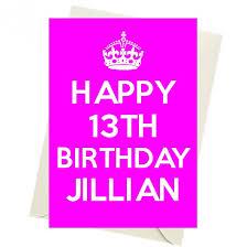 happy 13th birthday jillian posters mugs t shirts cards