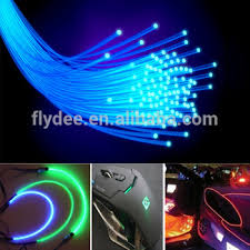 multicolor 3mm soft pmma led grow optic fiber light for car