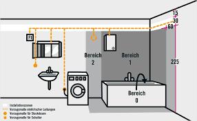 steckdosen badezimmer installationsbereiche in wohnräumen ratgeber hornbach