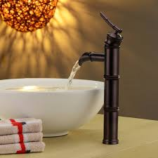 Oil Rubbed Bronze Kitchen Sink Faucet by Water Pump Style Oil Rubbed Bronze Bathroom Bamboo Sink Basin Tap