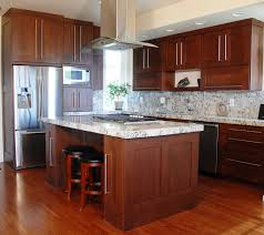 100 cherry wood kitchen cabinets with white granite