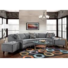 Sofa Curved Sofa Trendz Bindel Grey Curved Sectional Sofa With Ottoman Set