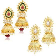 gold earrings online gold earrings best gold earring designs online on flipkart