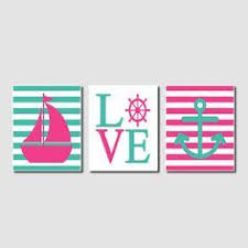 Items Similar To Love Anchors - nautical wall art sailboat love anchor by lovelyfacedesigns