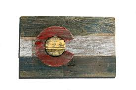 home decoration handmade handmade reclaimed wooden colorado flag vintage art distressed