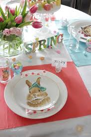 Easter Decorations At Pier One by Seasonal U0027scapes Spring Tablescape Domestic Charm