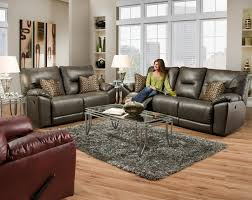 Patterned Loveseats Double Reclining Loveseat With Pillows For Family Rooms By