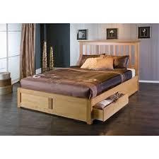 bianca oak storage kingsize bed frame wooden u0026 pine beds