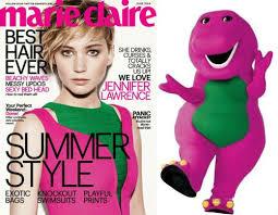 Barney Meme - who wore it better jennifer lawrence or barney weknowmemes