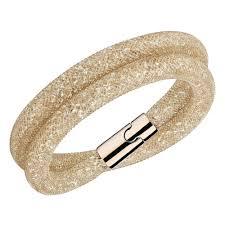 gold swarovski bracelet images Swarovski stardust rose gold deluxe double bracelet bracelets jpg