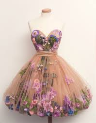 dress with fake flowers in it on the hunt