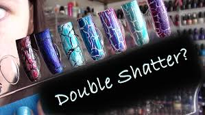 can you double shatter nail art using shatter crackle polish