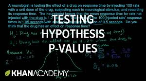 hypothesis testing and p values inferential statistics