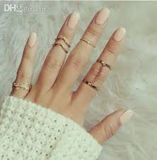 midi rings set wholesale jewelry stacking midi rings charm leaf midi chevron