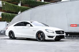 lowered amg c218 beautiful white c218 cls63 amg tinted and lowered on hre
