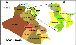 map of irak map of iraq with enlarge view of the ten districts of sulaymaniyah