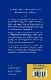 authorised version of the english bible 1611 volume 1 genesis to