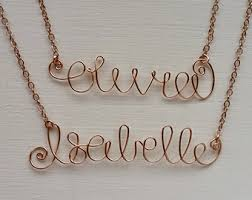 wire name necklace wire name necklace etsy