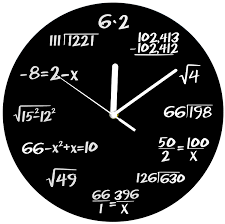 com decodyne math clock unique wall clock each hour marked