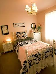 soft pink wall color with shabby chic bed frame for teen bedroom