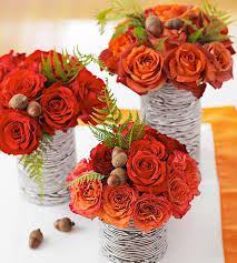 how to make simple mini thanksgiving flower arrangements