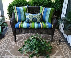 wicker loveseat cushion u0026 pillow 4 pc set indoor outdoor