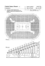 stadium seating patent 1920 patent print sports art coach gift