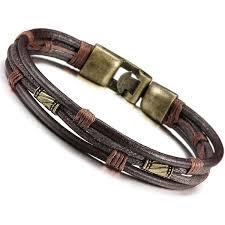 bracelet bangle men images Jstyle mens vintage leather wrist band brown rope jpg