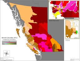 British Columbia Canada Map by British Columbia Canada 2013 World Elections