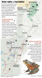 Map Of Redmond Oregon by Lawsuits Over Spotted Frog Worry Farmers Jefferson County Growers