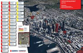 Downtown Seattle Map by Seattle Office Development Map