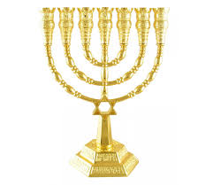 menorah 7 branch gold color of david 7 branch menorah ajudaica