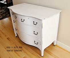 Painting Furniture White by Need A Latte Mom Pure White Dresser Changing Table Or Bathroom