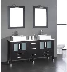 Trough Bathroom Sink With Two Faucets by Bathroom Sink Single Basin Double Faucet Bathroom Sink Vessel