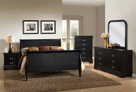 Black And White Queen Bed Set Louis Philippe Black Queen Bedroom Set My Furniture Place