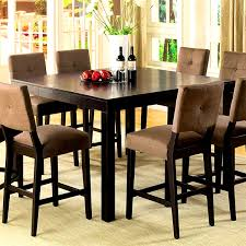 Stone Top Dining Room Tables Furniture Splendid Counter Height Table Storage Black Dining